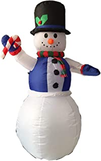 CDL 6ft Airblown Christmas Inflatable Snowman Animated Outdoor Xmas Yard Decorations 102