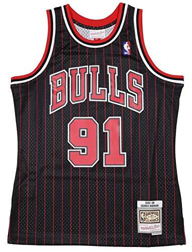 Mitchell & Ness Swingman Jersey Chicago Bulls Dennis Rodman 91 Black/Red M