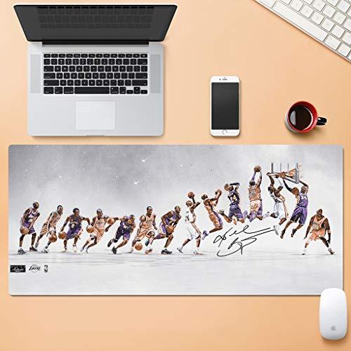 ZDVHM Estesa Gaming Mouse Pad Basket NBA Warriors Lakers Kobe Curry Jordan Irving James Durant Grande Tastiera Tappetino Mouse Impermeabile Antiscivolo Gioco Mousepad for Office Home PC