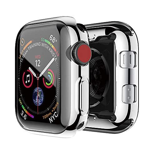 AISPORTS Compatible con Apple Watch Protector de pantalla de vidrio templado de 42 mm, iWatch Series 3/2, ultra fino, suave TPU HD, transparente, funda protectora total para Apple Watch Series 3/2