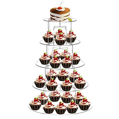 FOBUY - Alzata per cupcake a 5ripiani, in acrilico, per banchetti di nozze, Acrilico, 5 ripiani