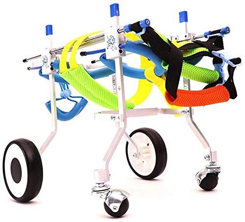 Jxungouqi Dog Wheelchair Best Friend Dog Wheelchair, Back Support Wheelchair, Adjustable Pet/Cat Dog Tool Back Leg