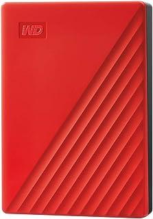 Western Digital WD 4 TB My Passport disco duro portátil con protección con contraseña y software de copia de seguridad automática, Compatible con PC, Xbox y PS4, color Rojo