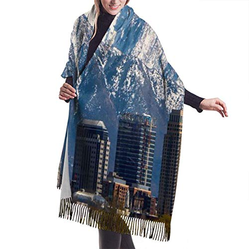 Tengyuntong Pashmina Wrap bufanda manta bufanda, mujer Pashmina bufanda, revista Salt Lake City gran mezcla extra suave mujeres chal abrigo estola bufanda