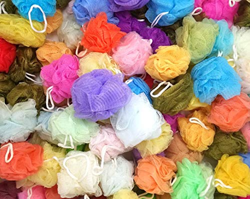 Loofah Lord 20 Bath or Shower Sponge Loofahs Pouf Mesh Assorted Colors Wholesale Bulk Lot