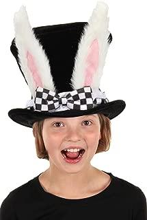 elope Kids White Rabbit Topper Plush Hat