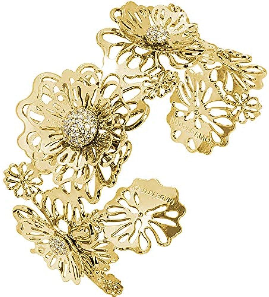 Boccadamo, bracciale rigido a fascia placcato oro giallo, per donna Xbr747D