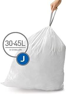 simplehuman Code J Custom Fit Trash Can Liner, 12 Refill Packs (240 Count), 30-45 Liter / 8-12 Gallon