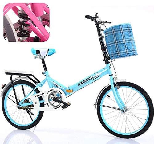 YTDHBLK gtt Plegable de Bicicletas de 20 Pulgadas Amortiguador portátil Boy Adultos...