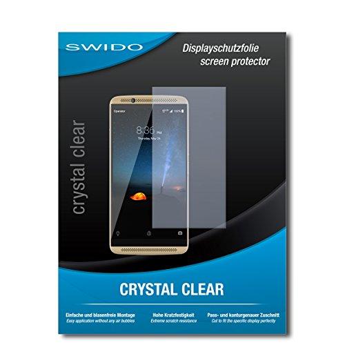 SWIDO Bildschirmschutz für ZTE Axon 7 [4 Stück] Kristall-Klar, Hoher Festigkeitgrad, Schutz vor Öl, Staub & Kratzer/Schutzfolie, Bildschirmschutzfolie, Panzerglas Folie