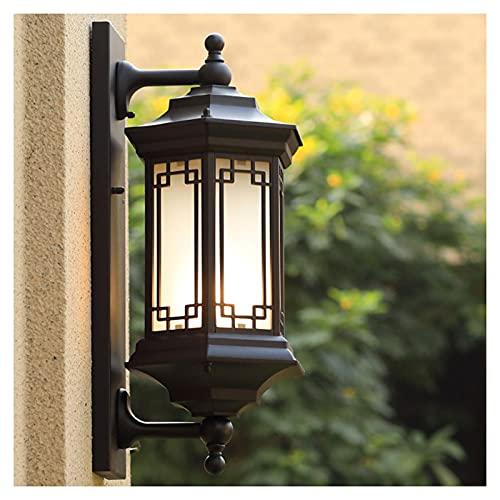 Lámparas De Pared Al Aire Libre, Jardín Porche De Luz De Montaje En Pared De Aluminio Prueba De Agua Fuera De Las Luces De La Pared, Adecuado Para Del Garaje Calle Balcón, E27, 110-220V