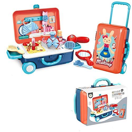 SHIFENG Juego de juguetes para niños, juguetes de cocina de belleza, seguro, no tóxico y conveniente almacenamiento de belleza