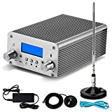 15W PLL FM Transmitter Radio Stereo Station Bluetooth Wireless Broadcast PC Controlled TNC Antenna