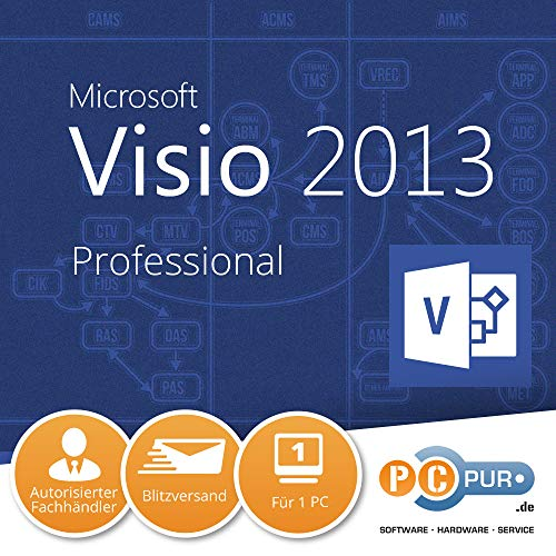 Microsoft Visio 2013 Professional Vollversion deutsch 1PC