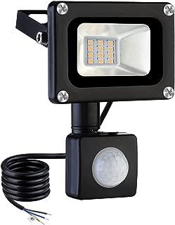 Induction LED Flood Light,10W Warm White LED Motion Sensor Flood Lights,Outdoor Intelligent Light,Waterproof IP65,Super Bright PIR Security Lights,for Garden,Yard,Road,Square