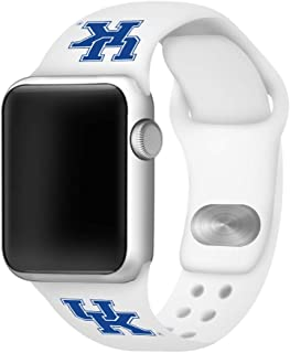 AFFINITY BANDS Kentucky Wildcats Silicone Smartwatch Band (38mm/40mm White)