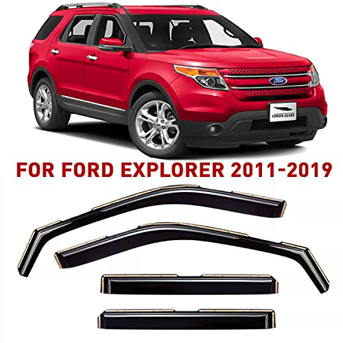 Voron Glass in-Channel Extra Durable Rain Guards for Ford Explorer 2011-2019,...