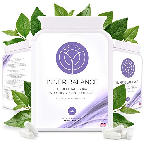 Inner Balance | Intestinal Probiotic Formula with Plant Extracts | High Strength 5 Billion CFU | Digestive Health | 60 Vegan Capsules