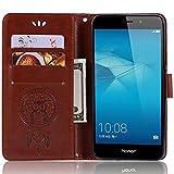 Huawei GT3 Lederhülle, Huawei GT3 Wallet Hülle, PU Leder geprägte Blumen Flip Hülle mit Kreditkartenfach für 5,2 Zoll Huawei GT3