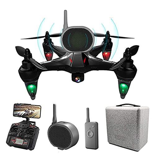 BD.Y Drone, GPS Drone con cámara 4K UHD y Altavoz para Adultos, 5G WiFi FPV GPS Quadcopter con Motor sin escobillas, Sígueme, 50 Minutos (25 + 25) Tiempo de Vuelo prolongado