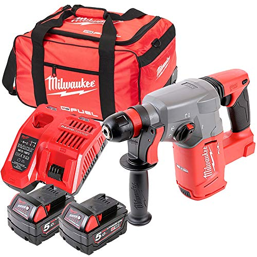 Milwaukee M18CHX 18V Fuel SDS+ Hammer Drill with 2 x 5Ah Batteries, Charger & Bag