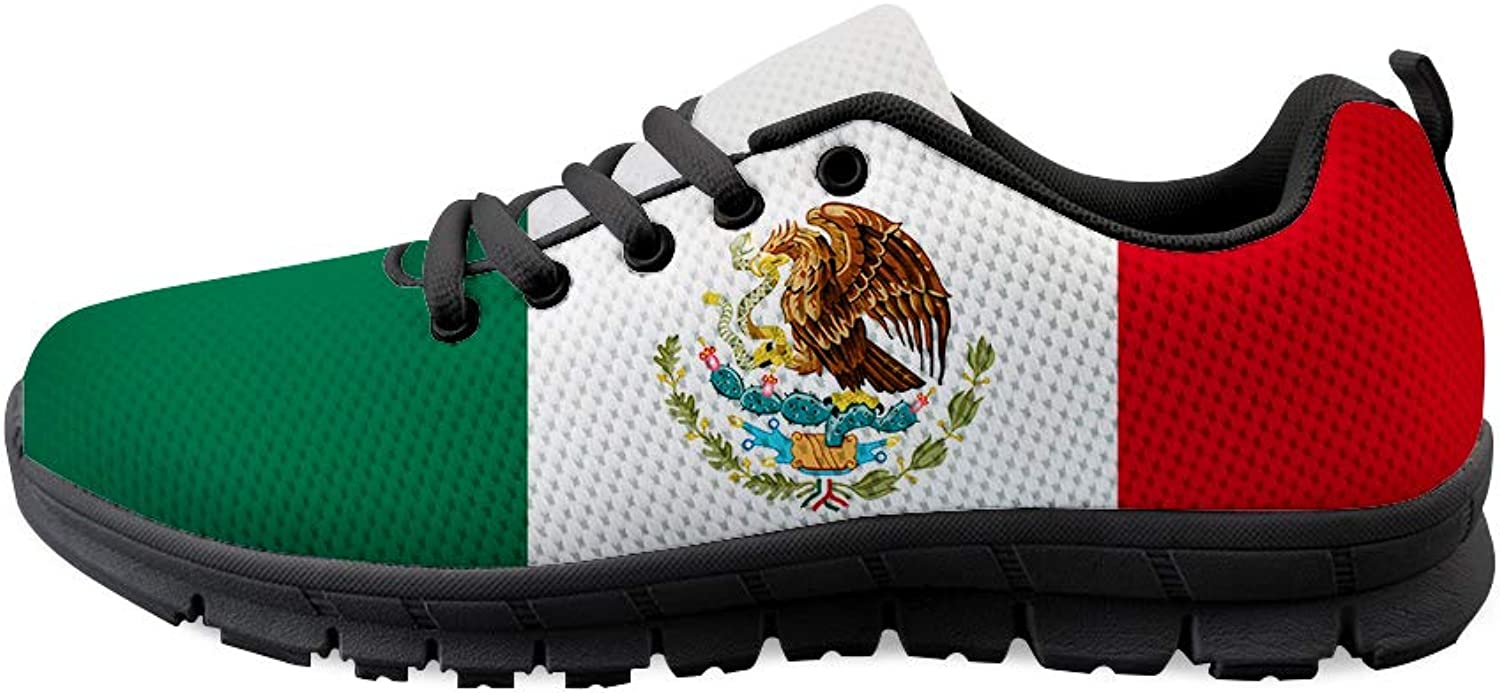 Owaheson Lace-up Sneaker Training shoes Mens Womens Mexico Flag