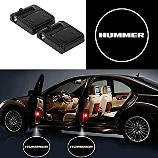 bearfire 2 Pcs Wireless Car Door Led Welcome Laser Projector Logo Light Ghost Shadow Light Lamp Logos for Hummer Accessory