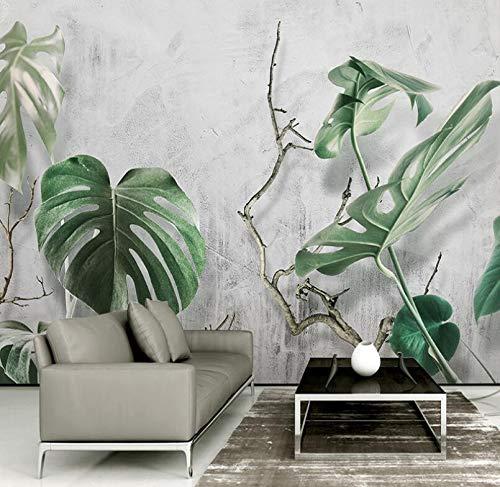 Eenvoudige Scandinavische stijl woonkamer TV achtergrond bananenwand schildpad achterkant blad latte thee kleding restaurant behang beton 200cm*140cm