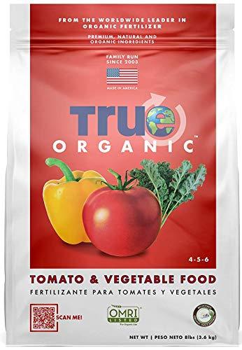True Organic - Tomato and Vegetable Plant Food 8lbs - CDFA, OMRI, for Organic Gardening…
