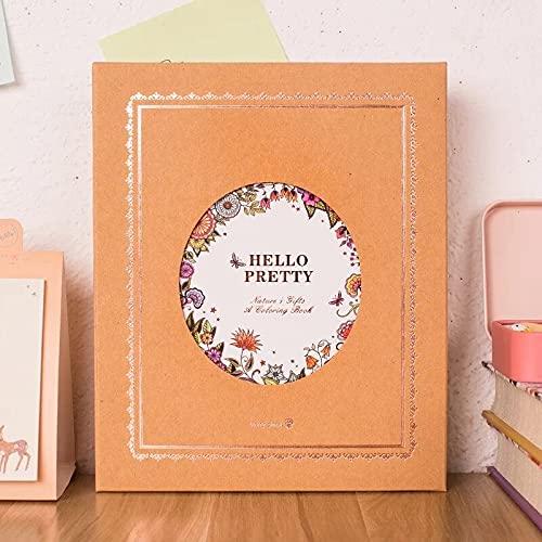 PPuujia Cuaderno de papel de notas, cuaderno de dibujo y diario, caja de regalo (color: guirnalda, tamaño: 17,5 cm x 14 cm)