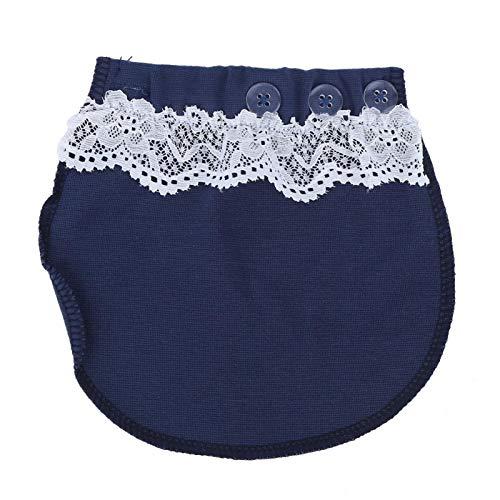 Extensor de cinturón de embarazo, Extensor de pantalones de maternidad fácil de usar, Educación temprana para instituciones educativas(Lace-blue)