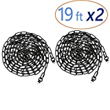 Eumyviv 2 Pack 19ft Heavy Duty Chain for Light Fixture, Pendant Light Extra Chain Permits Installation of...