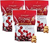 (3 Pack) Grandma Lucy's Organic Oven Baked Dog Treats, Cranberry, 14 Ounces each