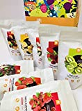 NutriBoom Freeze Dried Snack Box con frutas liofilizadas, bayas y verduras, 8 paquetes x 500 ml. Snacks saludables y naturales, snacks de oficina, veganos y sin gluten, caja regalo