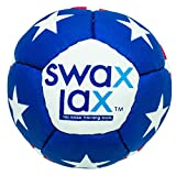 SWAX LAX Lacrosse Training Ball - Same Size & Weight as Regulation Lacrosse Ball but Soft - Indoor Outdoor Practice Ball with Less Bounce & Reduced Rebounds (One Stars n Stripes)