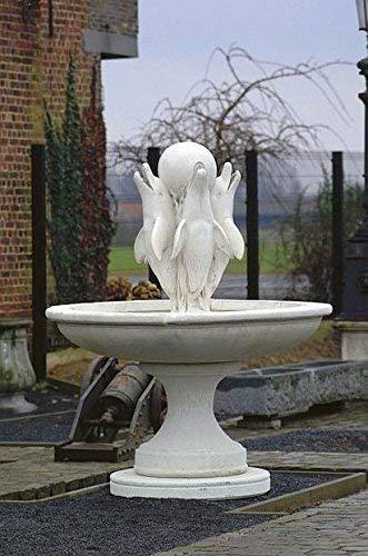 pompidu-living Brunnen, Gartenbrunnen, Zierbrunnen, Fountain, Schale Delphinen Farbe Antikfinish