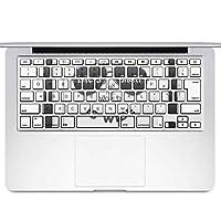 igsticker MacBook Air 13inch 2010 ~ 2017 専用 キーボード用スキンシール キートップ ステッカー A1466 A1369 Apple マックブック エア ノートパソコン アクセサリー 保護 010060 おしゃれ 英語 白 黒