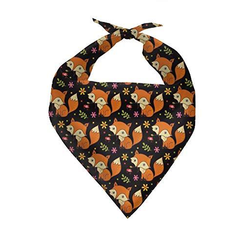 HUGS IDEA Pañuelo para perro, diseño de animales Vulpes para perro, bandana triangular, bufanda para mascotas, accesorio para vacaciones, elemento festivo, bandana para perro