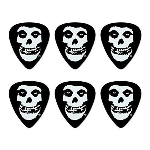 Misfits Fiend Skull Logo Novelty Guitar Picks Medium Gauge - Set of 6