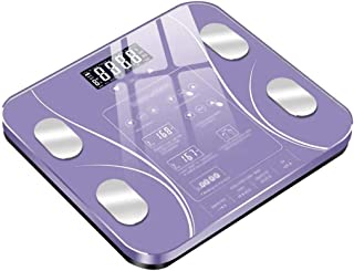 BTYAY Compact Electronic Bathroom Scale - Tempered Glass, Easy To Read Digital Display, Electronic Digital Scale