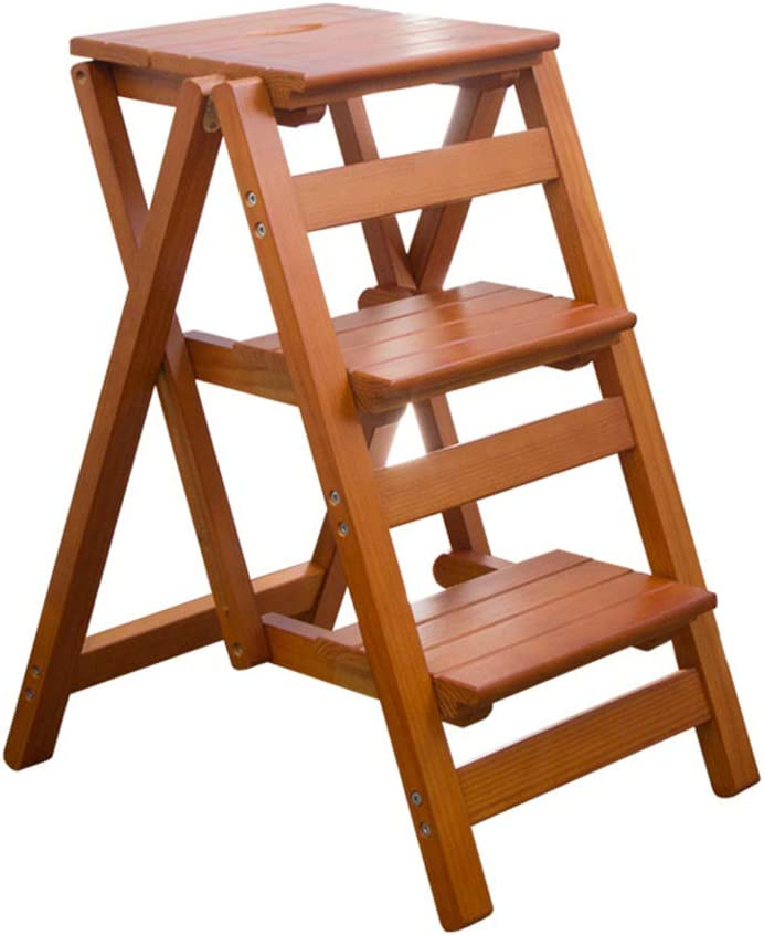 Folding Stepstool Ladder It is very popular Household Stair Wood Solid St Portable Wholesale