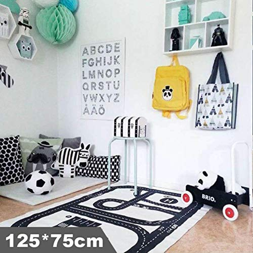 no brand Baby Play Mat Soft Crawling Rugs Car Track Pattern Puzzles Learning Toy Nordic Style Kids Room Decoration Floor Carpet,2