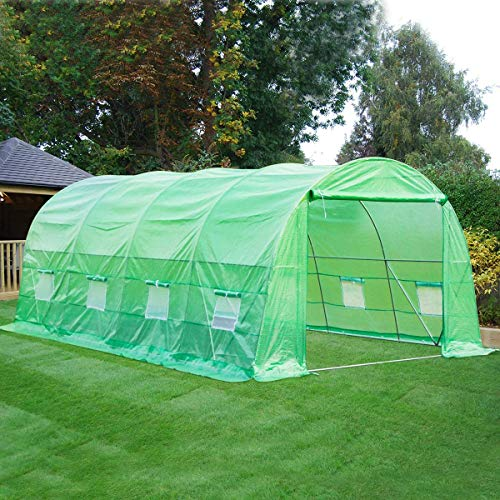 DNYKER Portable Greenhouse 20' x 10' x 6.6' Large Walk-in Green House for Outdoors Gardening Plant Hot House