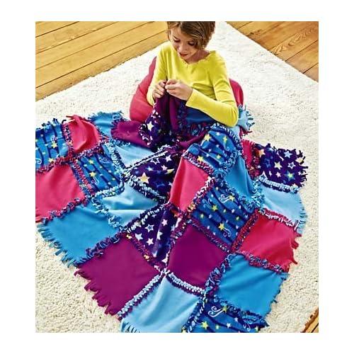 Fleece Starry Sky Knot-A-Quilt No Sew Craft Kit 2417df231