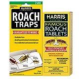 Harris Roach Tablets, Boric Acid Roach Killer 6oz with Free Roach Glue Trap
