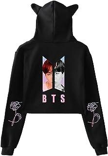 SERAPHY Cat Ear Hoodies Pullover Women Teen Girls Sweatshirts Suga Jimin Jin Jung Jook J-Hope Rap-Monster V Outwear for Fans