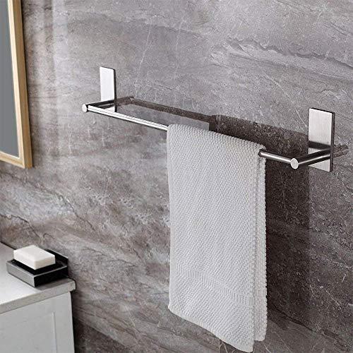 ZUNTO Selbstklebender Handtuchhalter gebürstetem Edelstahl Handtuchstange Ohne Bohren Bad und Küche 70cm