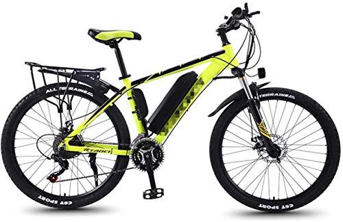 RDJM Bici electrica Adulto Fat Tire bicicletas de montaña eléctrica, 350W nieve de bicicletas, bicicletas de 26 pulgadas E-21 Velocidades de bicicletas crucero de la playa deportes de montaña de doble