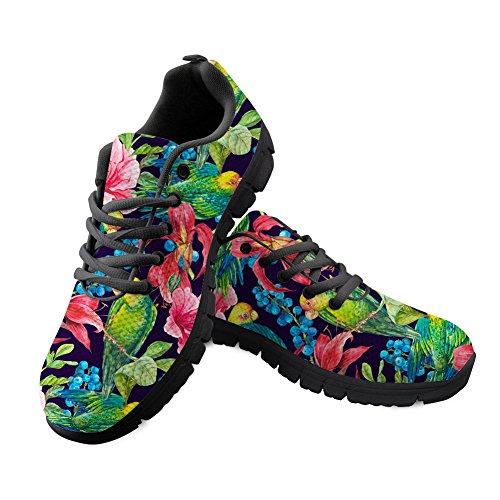 Shinelly Sportschoenen voor heren, met plantenpatroon, loopschoenen, sneakers, ademend, lichte trailloopschoenen