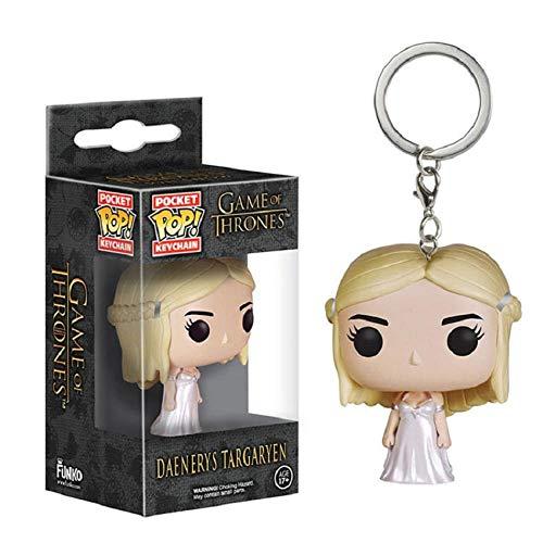 Pop Movie TV Juego de tronos Jon Snow Daenerys Davos Ghost Night King Tylion Drogon llavero figura de acción modelo de juguete coleccionable-10